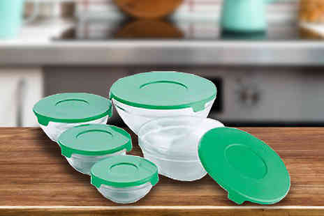 Promintra s l - 15 Green Glass Bowls - Save 48%