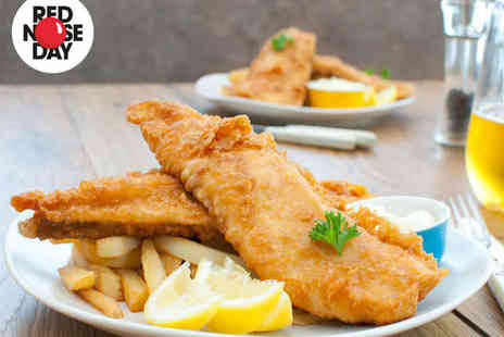 Two Brothers Fish Restaurant - Eat In Fish and Chips for Two with a Glass of Wine Each - Save 53%