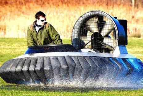 Hovercraft Adventures - Five lap hovercraft experience for One - Save 63%