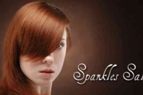 Sparkles Salon - Cut, Wash, and Blow Dry Plus Conditioning Treatment - Save 60%