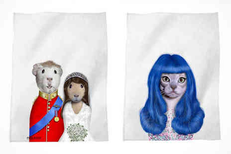 Pets Rock Tea Towel - Pets Rock Tea Towel in a Choice of 68 Designs - Save 33%