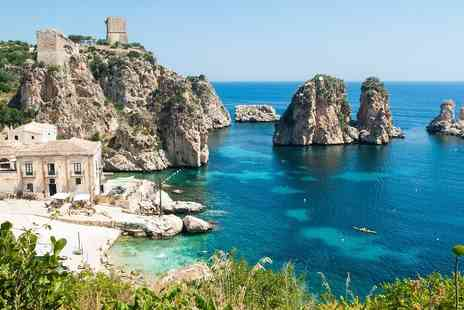Sicily Round Trip - Seven night island round trip inclluding Four hotels, flights, car, breakfast and  - Save 38%