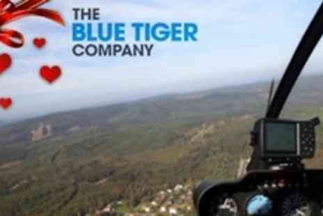 The Blue Tiger - Romantic Helicopter Flight For Two With Champagne, Chocolates and On Board Photography - Save 57%
