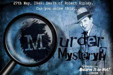 Ripleys Believe It or Not - Ripleys murder mystery night including a drink and detective notepad  - Save 0%