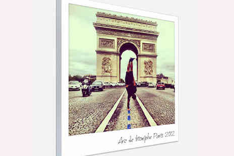 The Image Box  - Polaroid Style Canvas Print with Personalised Message - Save 77%