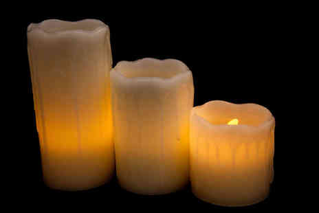 Divinity Fashion  - Three Piece LED Candle Set  - Save 0%