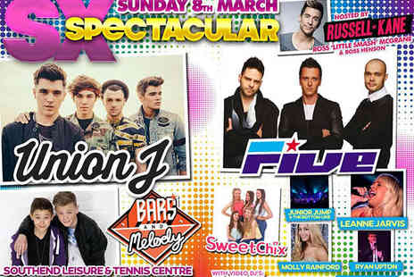Southend Leisure & Tennis Centre - Ticket to  SX Spectacular with Union J, Five, and Bars and Melody  on March 8 - Save 42%