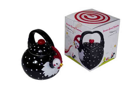 Merico - Porcelain Enamel Kettle in Choice of Three Animal Designs - Save 66%