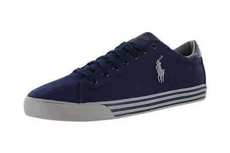 Brands Town - Polo Ralph Lauren Navy Canvas Trainers - Save 27%