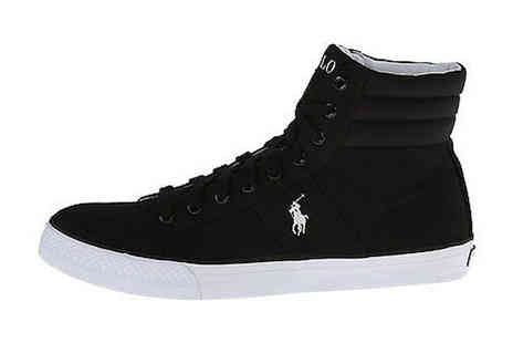 Brands Town - Polo Ralph Lauren Hi Top Trainers in Black - Save 29%