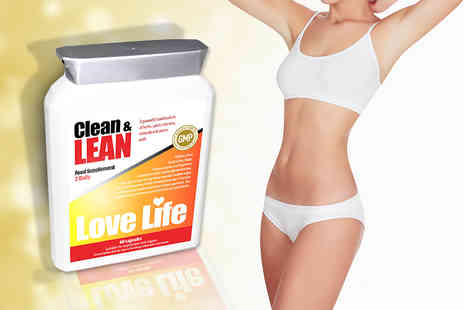 Love Life Supplements - One month* supply of Clean & Lean 'weight management' supplements - Save 44%