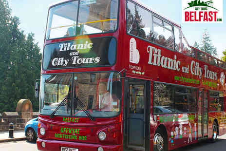 Titanic & City Tours - Castle or Stormont Sightseeing Bus Tour for Two  - Save 0%