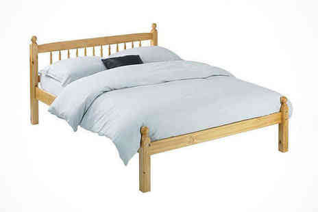 Contemporary Solid Pine - Solid Pine Bed Frame Single  - Save 70%