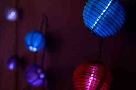 Eastern Enchantment - Solar Powered Chinese Paper Lanterns - Save 55%