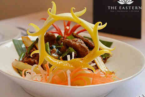 The Eastern Restaurant - Three Course Asian Meal for Two  - Save 0%