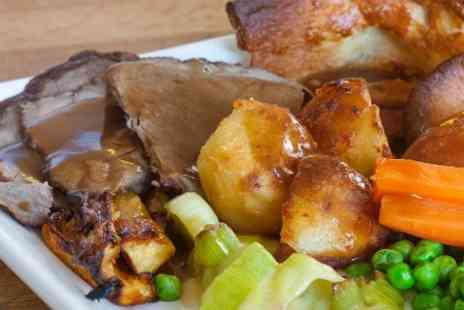 The Bull and The Hide - Sunday Roast and Dessert With Wine For Two  - Save 52%