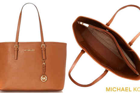 Sydney Trading Inc - Michael Kors Jet Set Travel Brown Leather Tote Bag - Save 29%
