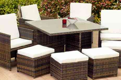 Cozy Bay - Eight Seat Garden Furniture Patio Set - Save 54%