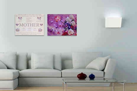 The LED Canvas Company - Personalised A3 LED canvas - Save 70%