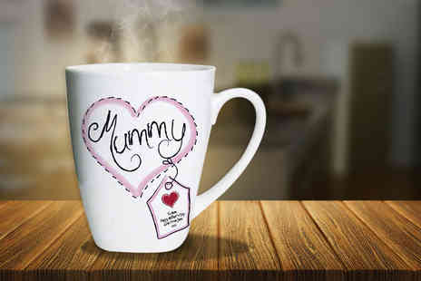Click Wrap - Latte mug, personalised with your choice of photo and text - Save 65%