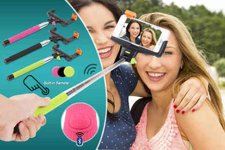 Click Wrap - All in one selfie stick with built in Bluetooth clicker  - Save 75%