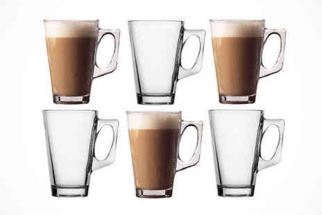 Elegant Brew - Glass Latte Mugs, Delivery Included - Save 67%