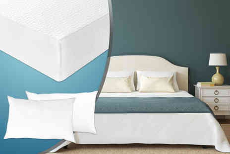 Sleep Solutions - Single memory foam mattress and pillow - Save 62%