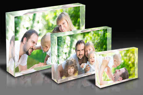 1clickprint - Three personalised wooden photo blocks - Save 75%
