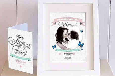 Treasure On The Wall  - Personalised Mothers Day Framed Photo with Card - Save 61%