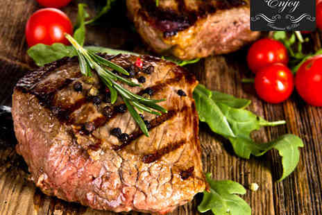 Enjoy restaurant - Sirloin Steak Main Course for Two with Glass of Wine Each - Save 55%