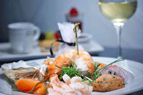 Caviar House & Prunier - Three Course Seafood Meal with a Glass of Wine for Two - Save 40%