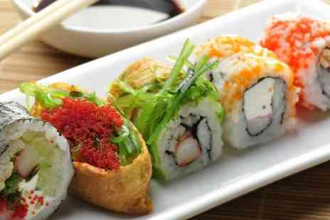 Koi Sushi & Noodle Bar - Sushi for 2 including 36 pieces of sushi to share & green tea each - Save 65%