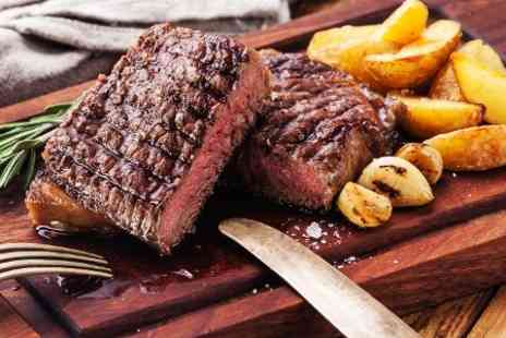 The Plough & Harrow - Steak and Wine For One  - Save 57%