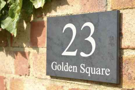 Design A House Sign - Personalised Slate House Sign - Save 40%