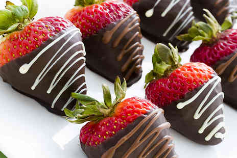 Fruityco -   12 piece box of chocolate dipped fruit  - Save 52%