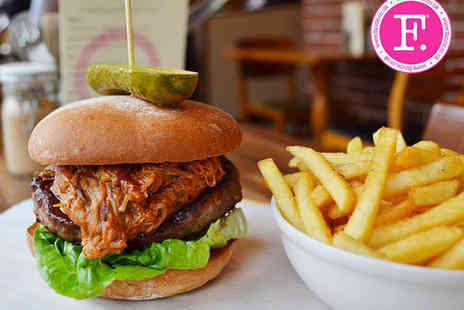 Fancie - Burger and Fries for Two - Save 53%
