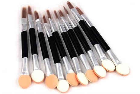 Beautyfit - Ten Double Ended Make Up Brushes - Save 60%