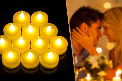 Zip Gadgets - Set of 12 LED Tea Lights  - Save 60%