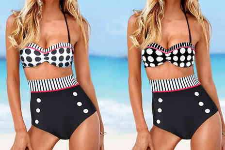 Cerichic -  Vintage High Waisted Swimsuit   - Save 65%