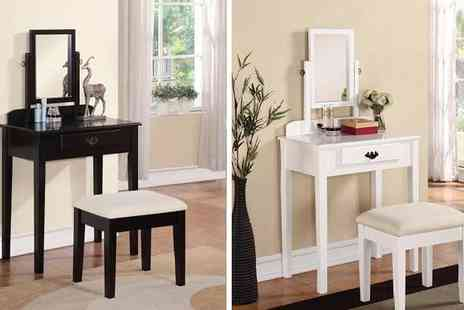 Mattress Shed - Shaker Style Dresser with Mirror & Stool - Save 49%