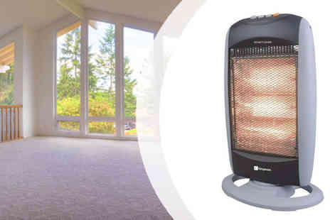 AKJ Enterpises - 1200W Portable Halogen Electric Heater - Save 57%