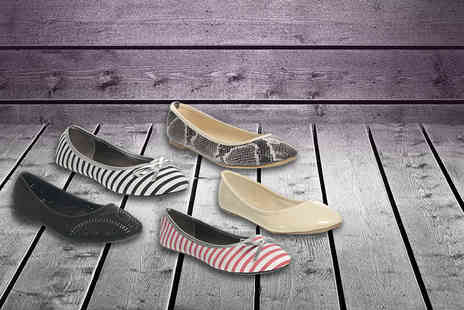 Avendita - Pair of ballet pumps in a choice of 15 designs Delivery Included  - Save 0%