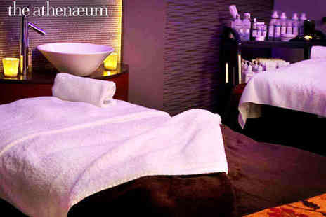 The Athenaeum - Five Star Spa Package for Two People with Two Treatments Each  and a Champagne Lunch and £20 Gift Voucher Each  - Save 59%