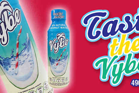 Vybe  - 12 or 24 Bottles of Vybe Coconut Water - Save 48%