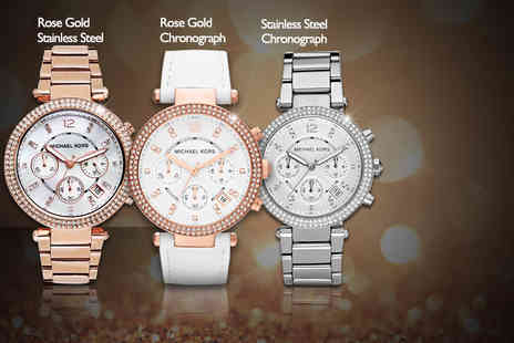 Shop On Time - Ladies Michael Kors bracelet watch made with Swarovski Elements   - Save 50%