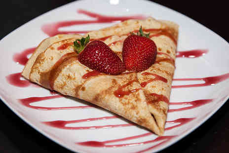 Love A Slice - Crepe and drink or slice of cheesecake and milkshake for one - Save 45%