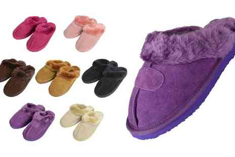 xsstock online - Ladies Real Suede Slippers - Save 27%