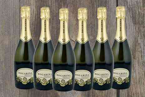 Wine Online - 6 Bottles of Dogarina Extra Dry Prosecco - Save 28%