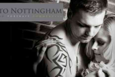 Photo Nottingham - Romantic Couples Photo Shoot or Individual Intimate Boudoir Shoot With Makeover and Print - Save 81%