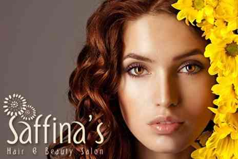 Saffina's Hair and Beauty Salon - Highlights or Colour, Hair cut and Wella Conditioning Mask for £29  - Save 62%